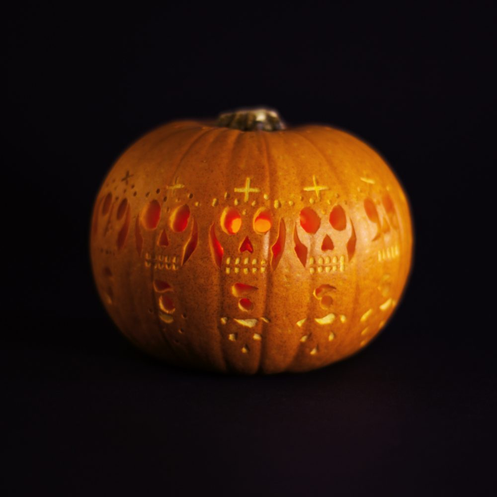 Carved pumpkin zoetrope