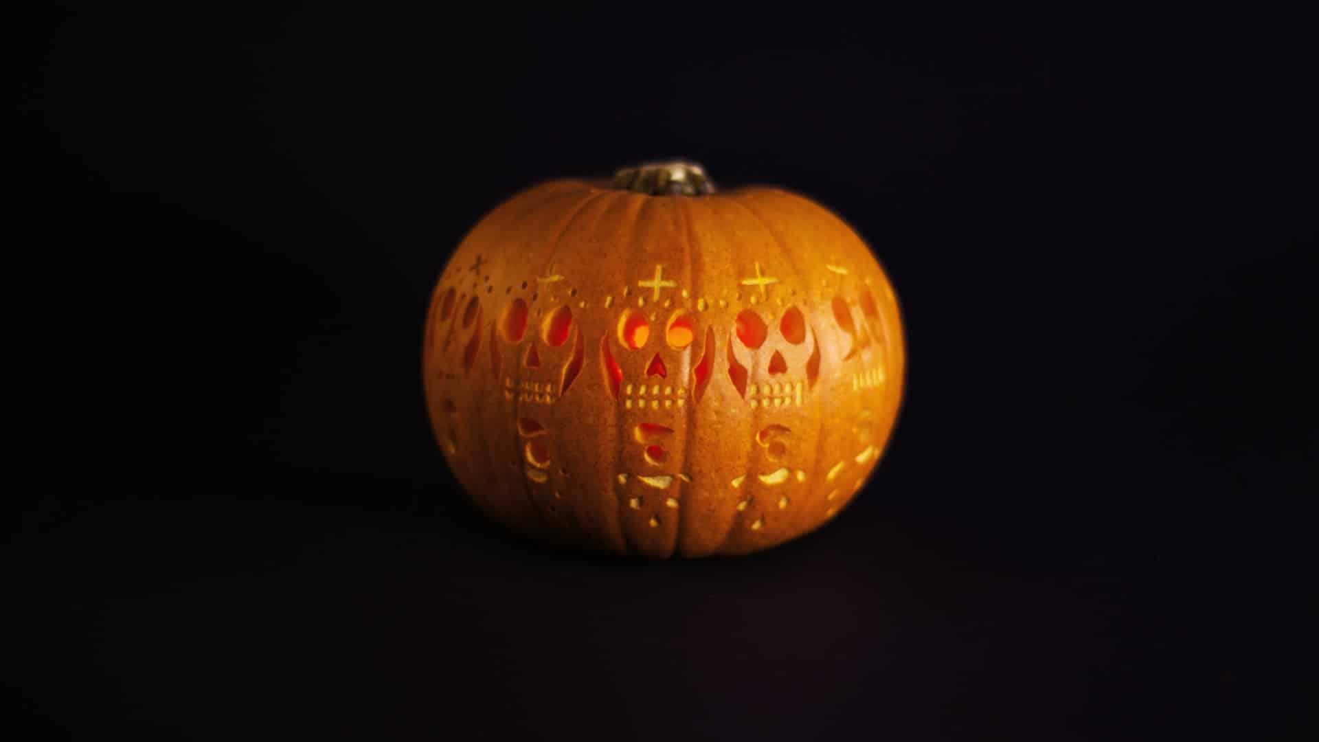 Carved pumpkin zoetrope