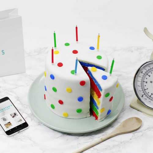 Google magic rainbow cake