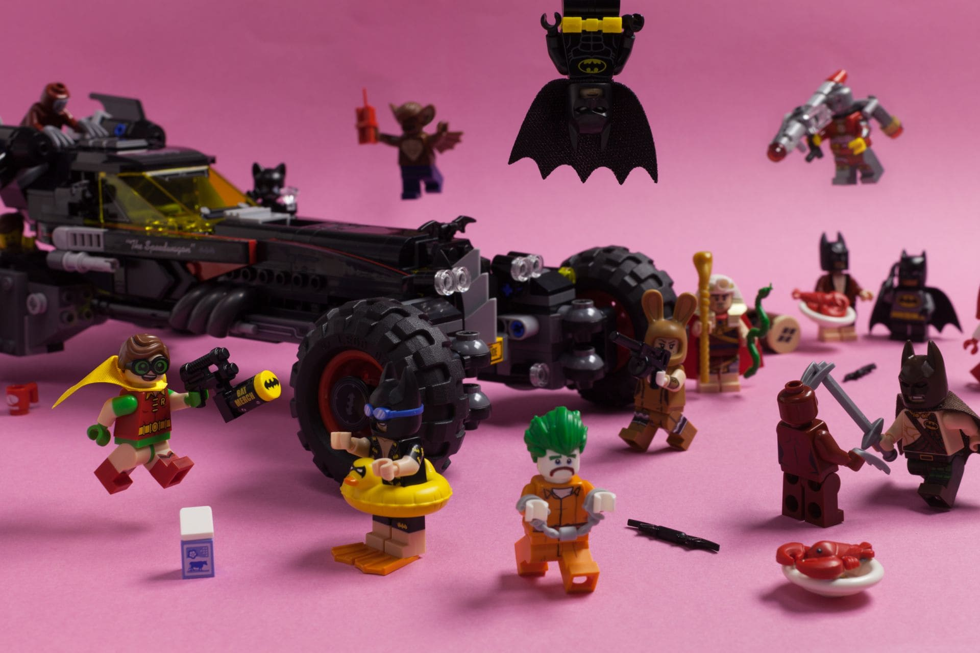 Lego characters and props