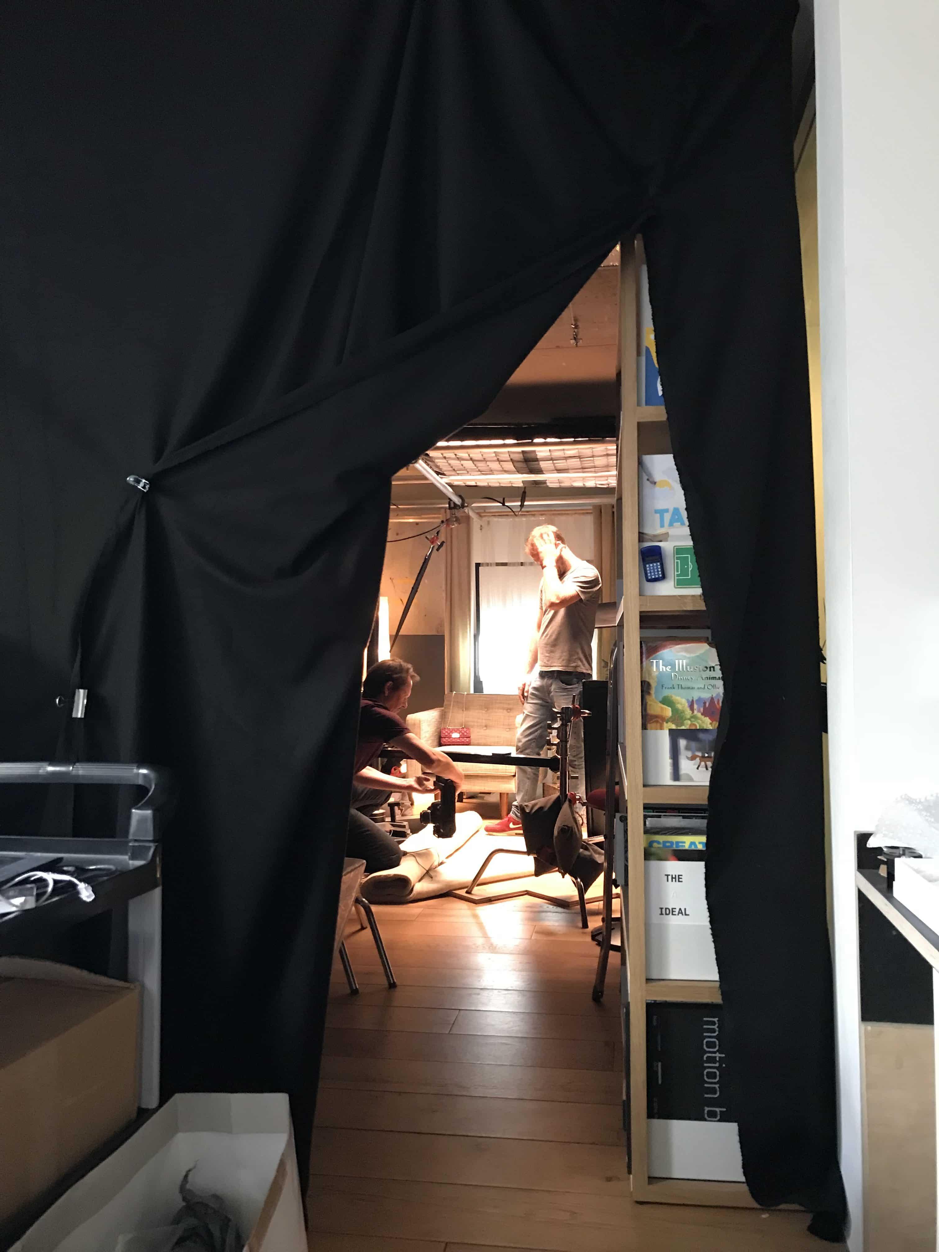 Behind the scenes set