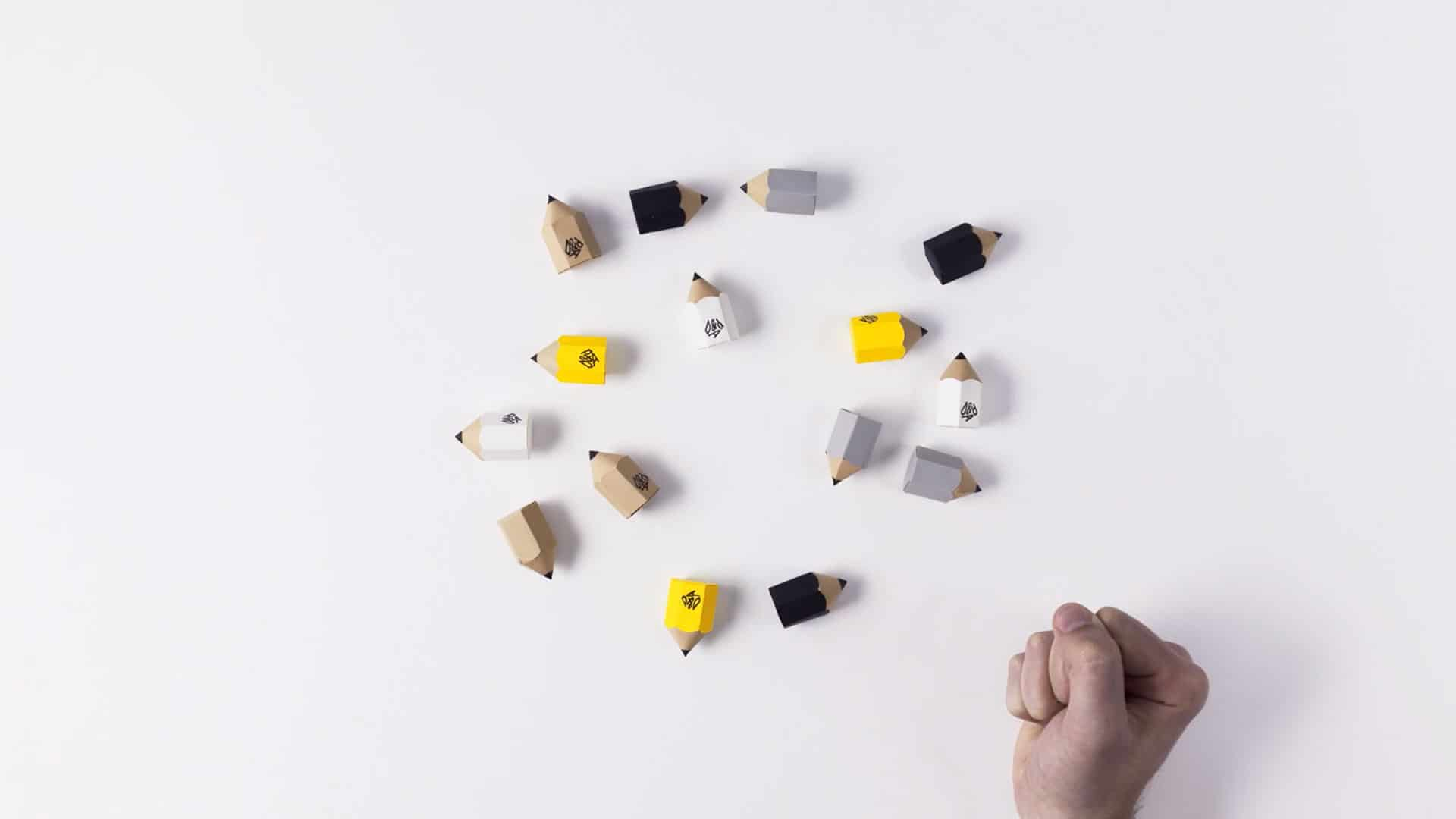 D&AD small paper pencils