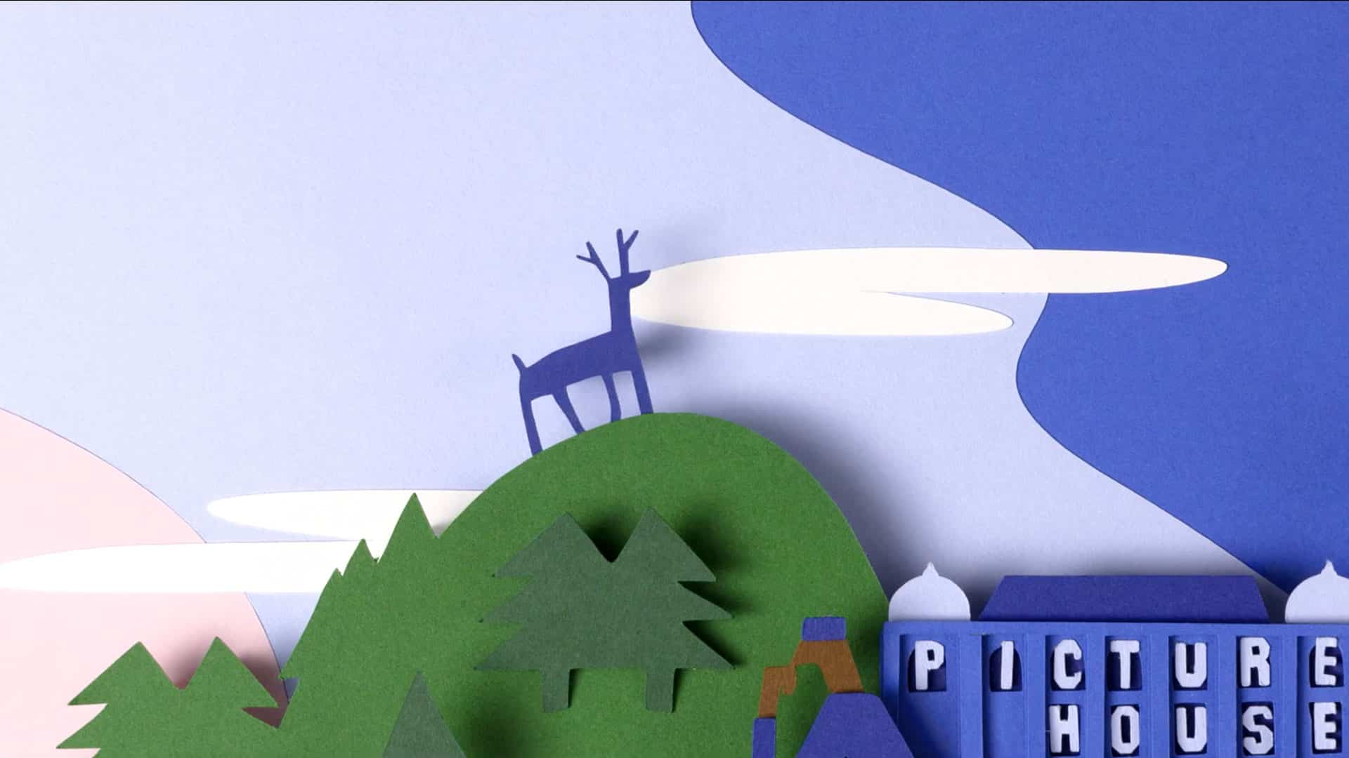 Stop motion paper cut animation for Picturehouse