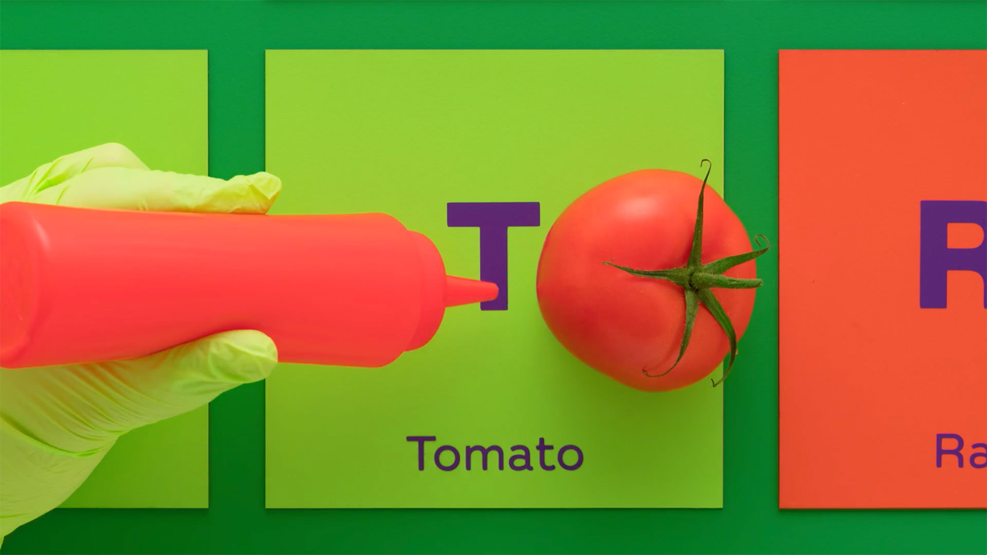 Subway squeezing a tomato out of a bottle