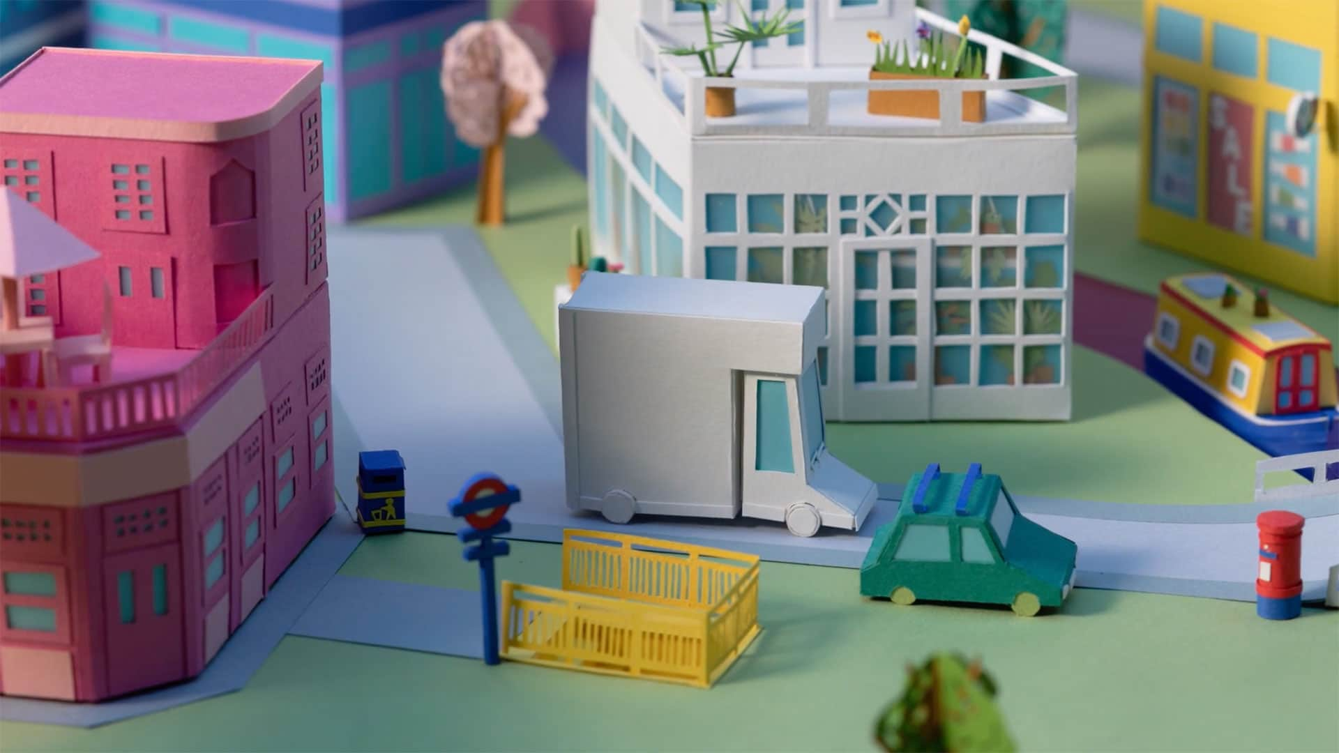 Paper craft city scape