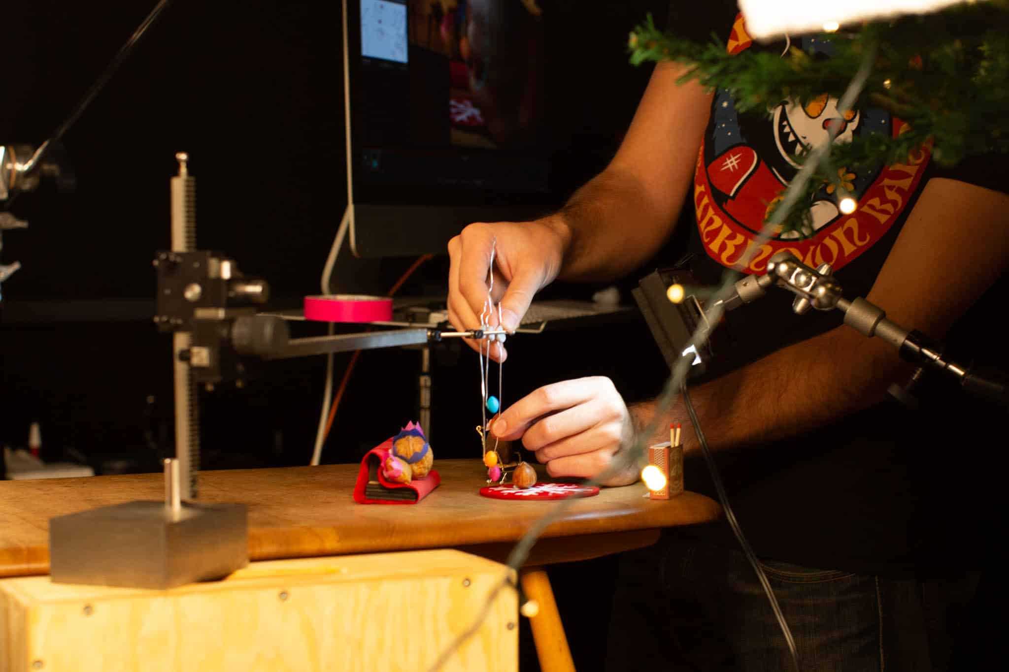 Cracking Christmas stop motion animation