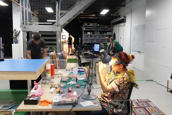 Picturesmith team working in studio