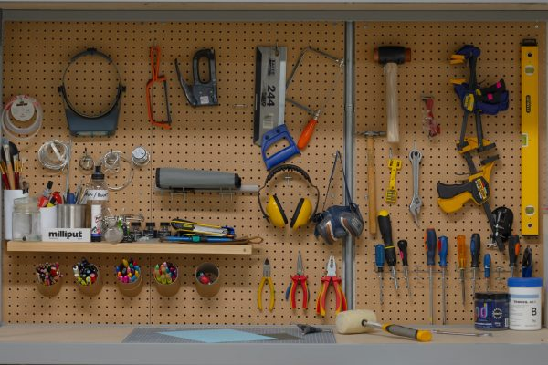 Picturesmith art department pegboard tools