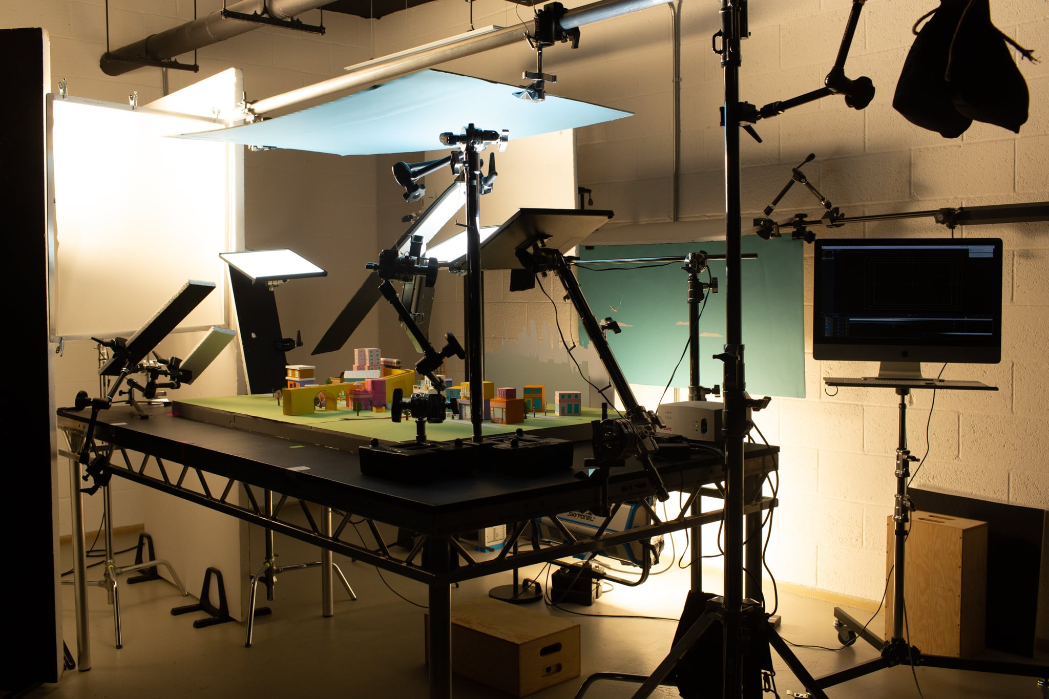 studio setup for stop motion shoot