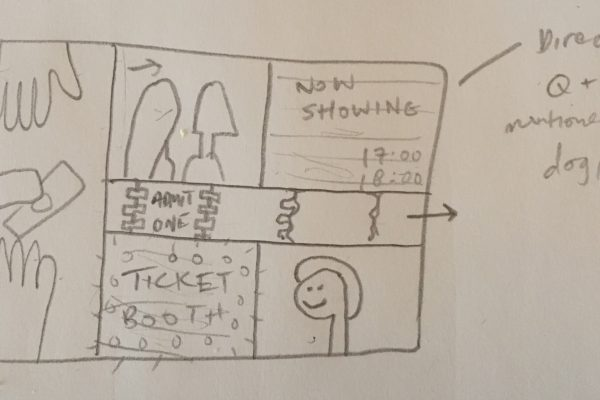 Picturehouse sketch ticket booth